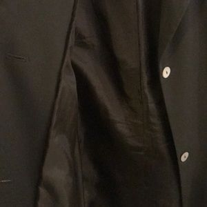 Jackets & Coats - Dark green blazer with white opal colored buttons